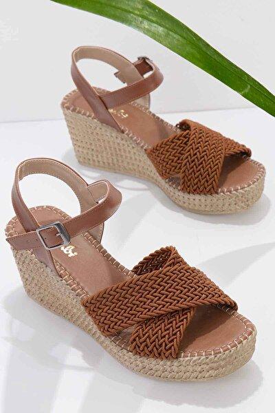 Taba Kadın Dolgu Topuklu Ayakkabı K05688015016