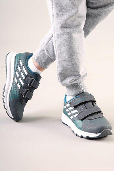 Çocuk Füme-Beyaz Anatomik Taban Günlük Spor Ayakkabı