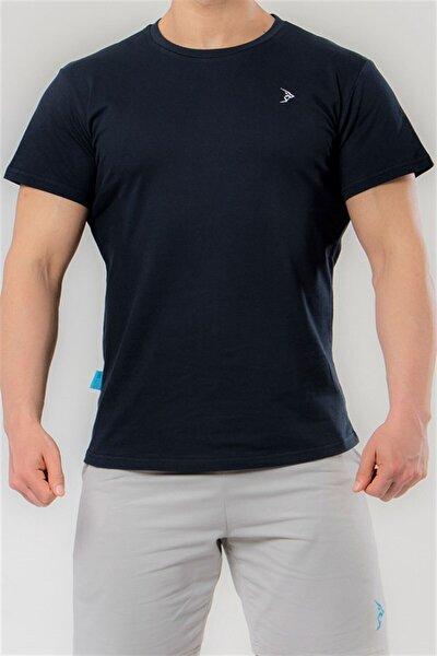 Erkek Koyu Lacivert Pike Kısa Kollu Basic Tişört