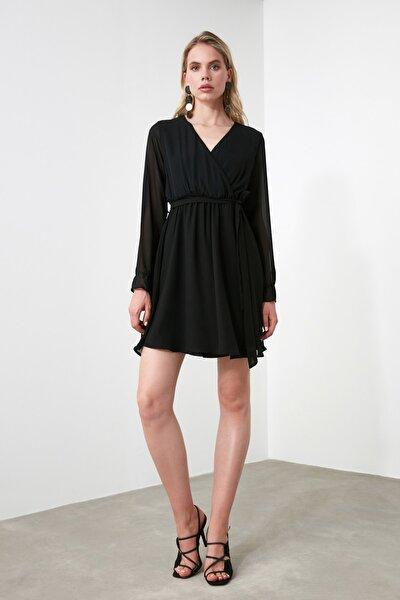 Siyah Kuşaklı Elbise TWOAW20EL0789