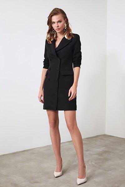 Siyah Ceket Elbise TWOAW20EL0334