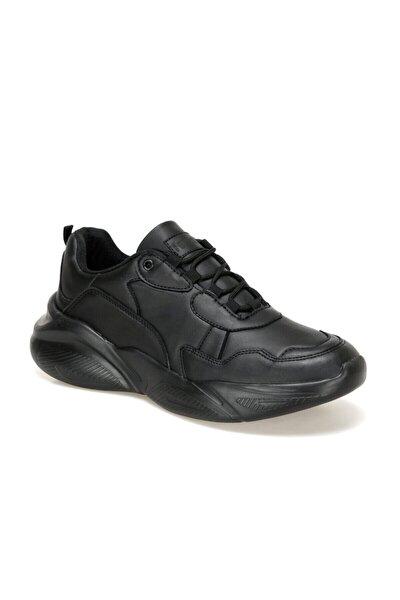 EC-1064 Siyah Erkek Kalın Taban Sneaker Spor Ayakkabı 100569499
