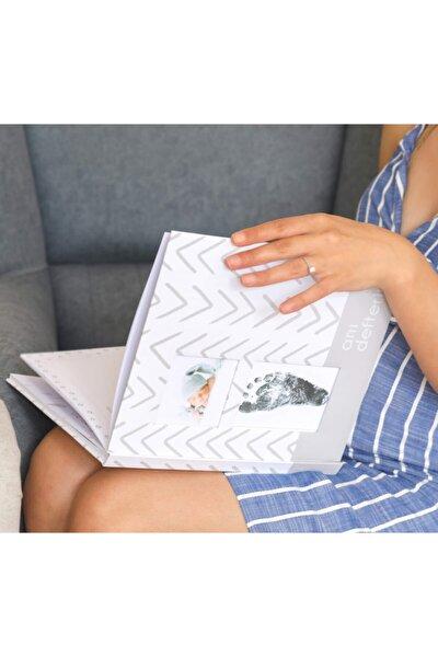 Modern Bebek Anı Defteri - Ilk 1 Yıl Hamilelik Ve Anne Bebek Günlüğü - Ajandası + Baskı Kiti