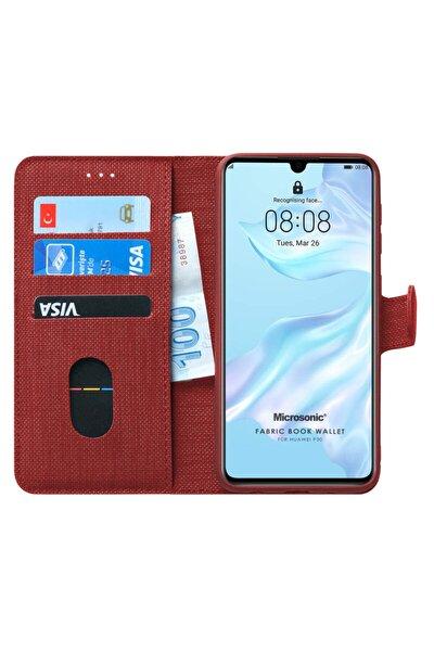 P30 Kılıf, Microsonic Fabric Book Wallet