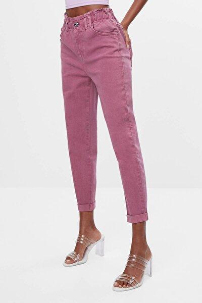 Kadın Pembe Elastik Belli Pantolon 05215388