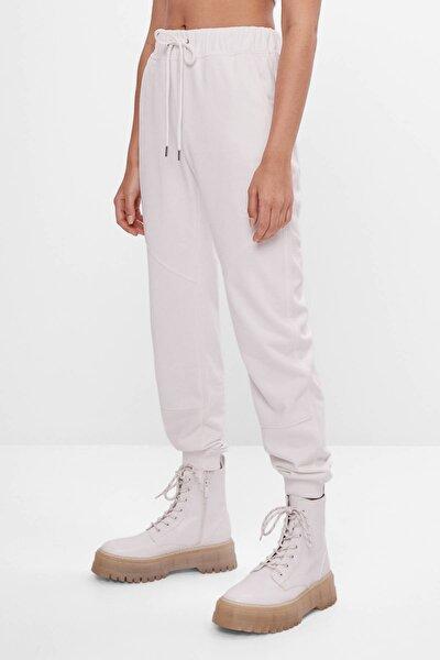 Kadın Beyaz Koton Jogger Pantolon 05225478