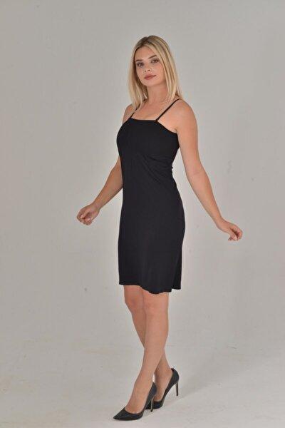 Kadın Siyah Renk Elbise Içi Kombinezon