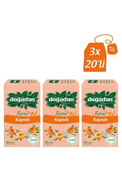 Form Kayısılı Bitki Çayı 20'li Bardak Poşet X3