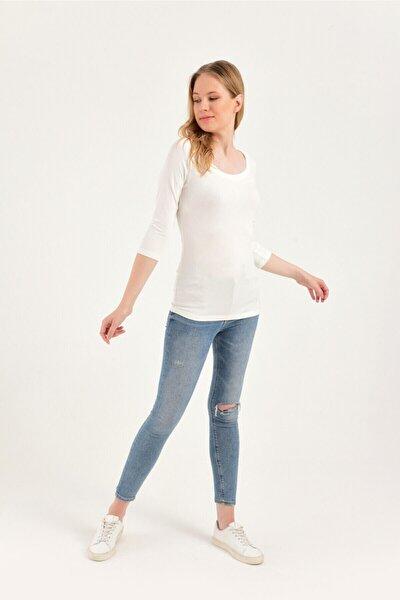 Uzun Kollu Basic Bluz