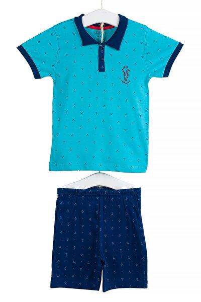 Polo Yaka Kısa Kollu Tişört Şort İkili Takım 6-36 Ay AZZ002970
