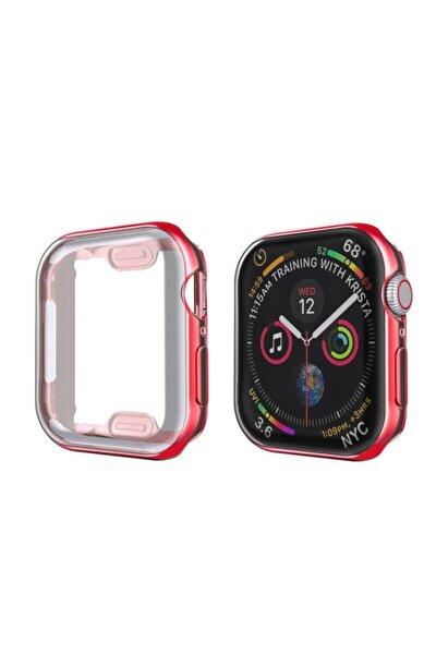Apple Watch 42mm Kırmızı Slim Şık Yumuşak Çerçeve, Koruma Kılıfı