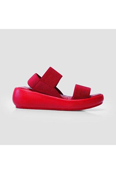 Kadın Kırmızı  Trendy Sandalet J0246 Zn