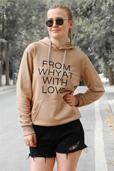 Mad Girls Camel Kapüşonlu Sweatshirt MG4413