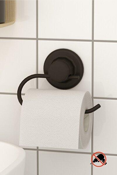 Delme Vida Matkap Yok! Vakumlu Tuvalet Kağıtlık Mat Siyah Dm239