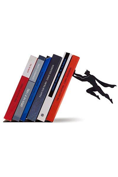 Süpermen Metal Kitap Rafı, Metal Dekoratif Kitaplık