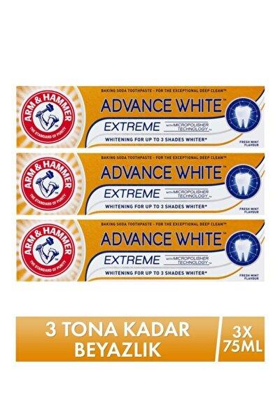 Arm Hammer 3 Tona Kadar Beyazlatıcı Diş Macunu - Advance White 75 Ml X 3