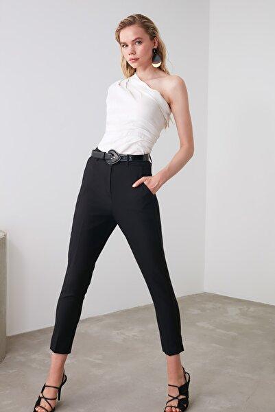 Siyah Cigarette Pantolon TWOSS19ST0038