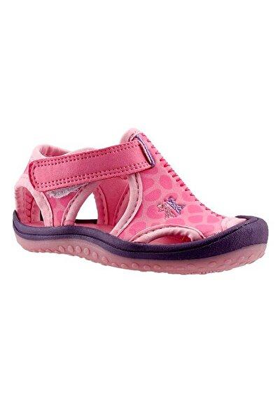 Kız Bebek Pembe Desenli Sandalet Ayakkabı