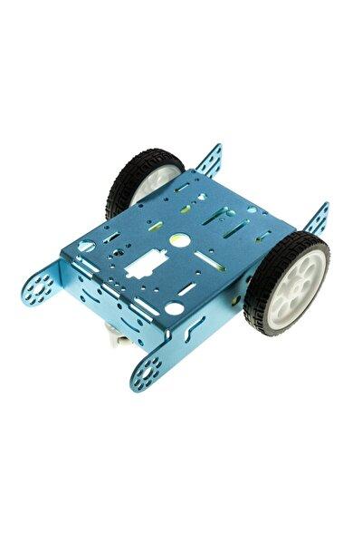 2wd Mbot Alüminyum Araç Kiti - Mavi ( Motor Ve Tekerlek Dahil)