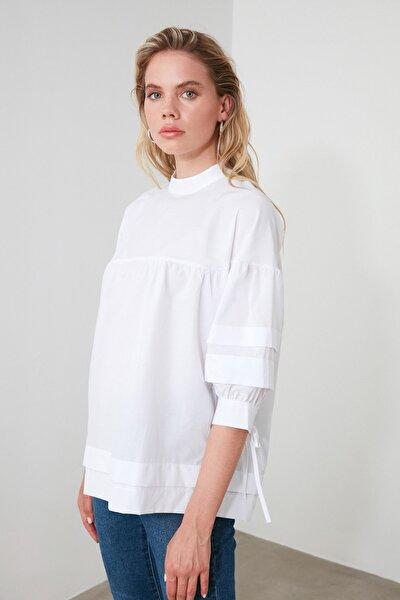 Beyaz Kol Detaylı Bluz TWOSS20BZ0544