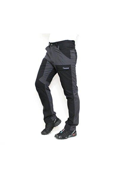 Erkek Gri Siyah Adventurous Quickdry Yazlık Pantolon