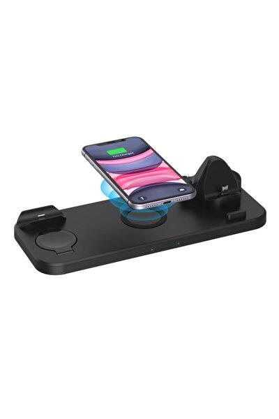 6 In 1 Kablosuz Stand Hızlı Şarj Cihazı Samsung Iphone