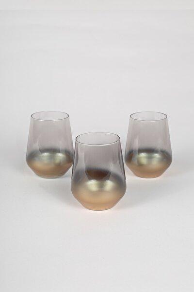 Glow 3'lü Su Bardağı Seti Füme 425 cc