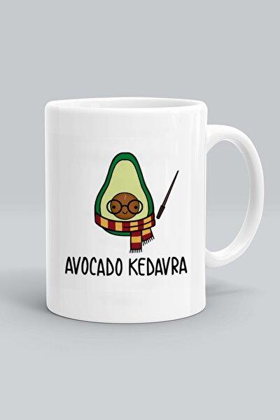 Avocado Kedavra Harry Potter Baskılı Beyaz Kupa Bardak
