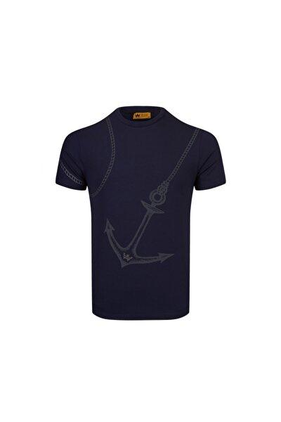 %100 Pamuk Erkek Sıfır Yaka T-shirt