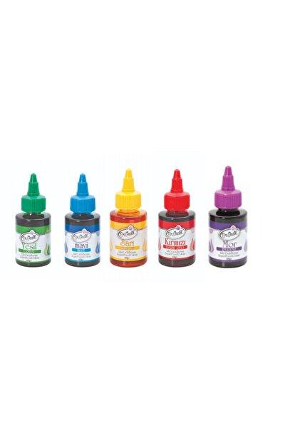 Dr Gusto 5 Li Sıvı Gıda Boyası 5 X 60 Gr Sarı Kırmızı Mavi Mor Yeşil