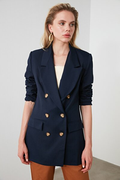 Lacivert Oversize Blazer Ceket TWOSS19WX0039