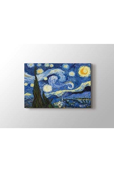 Yıldızlı Gece Tablosu  Starry Night Gece  Vincent Van Gogh 105x70 cm