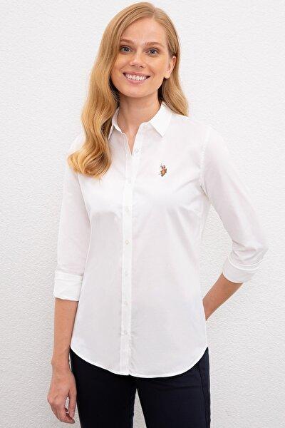 Beyaz Kadın Dokuma Gömlek