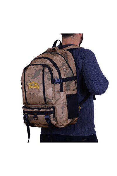 Strong 17-18.4 Inch Laptop Bölmeli Büyük Boy Sırt Çantası,dağcı Çantası,seyahat Kamp Çantası