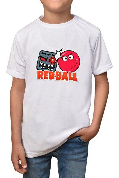 Çocuk  Beyaz Redball  Unisex T-shirt T-6