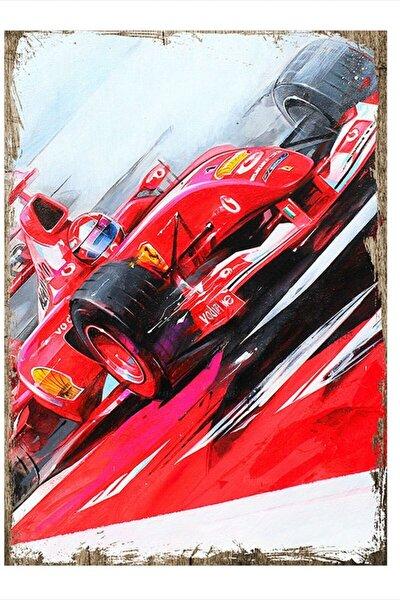 F1 Ferrari Mdf Poster 50cm X 70cm