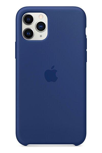 Apple Iphone 11 Pro Max Silikon Kılıf Lacivert