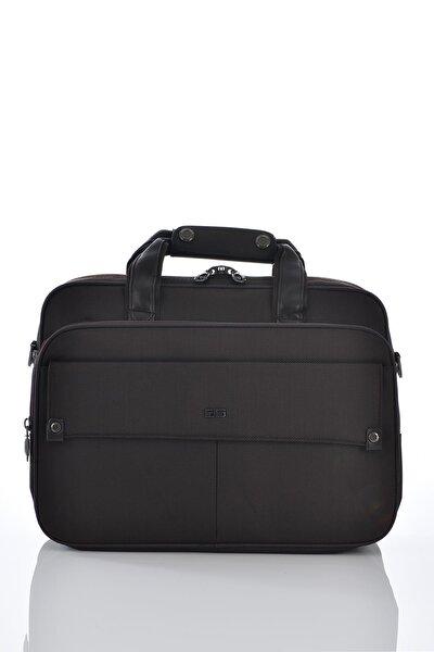 71209 Laptop Bölmeli Evrak Çantası Kahverengi