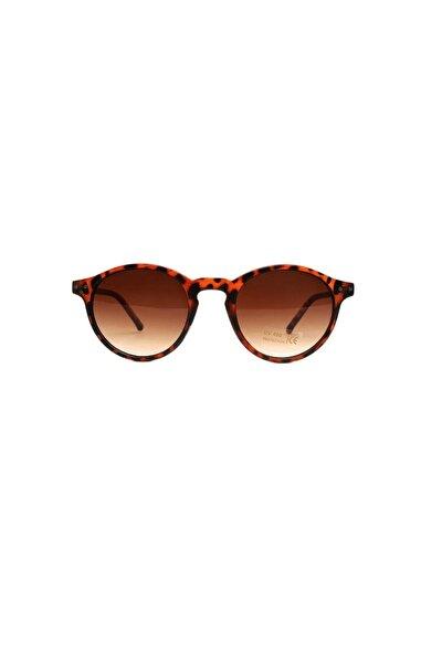 Leopar Desenli Kemik Kadın Güneş Gözlüğü