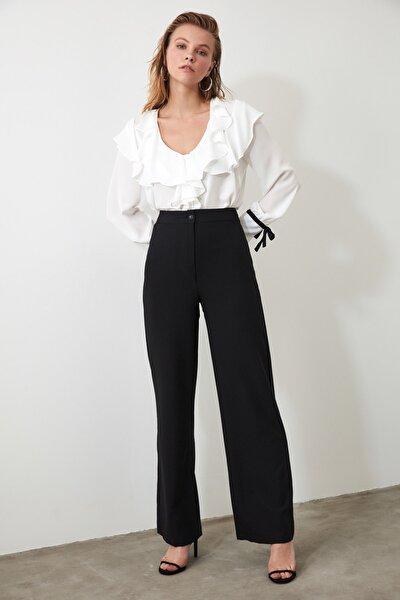 Siyah Geniş Paça Pantolon TWOAW20PL0244