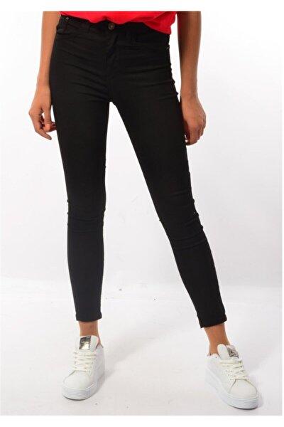 Kadın Yüksek Bel Dar Paça Pantolon Siyah 103