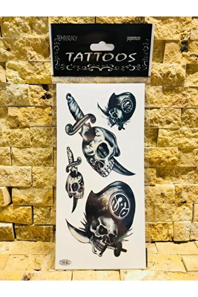 Kuru Kafa Geçici Dövme Tattoo