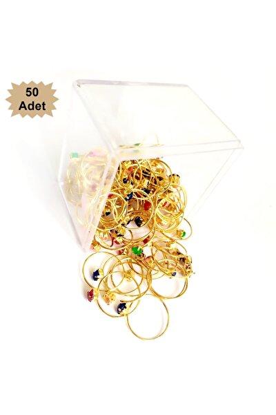 Hediyelik Çocuk Yüzük Altın Renk 50 Li Paket