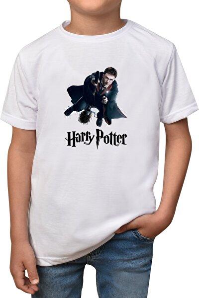 Çocuk Beyaz Harry Potter T-shirt T-9