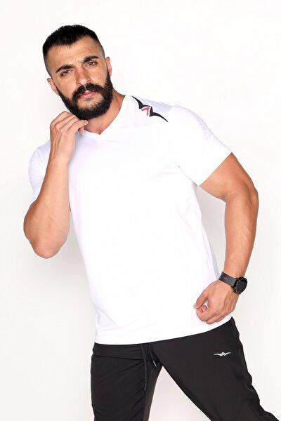 Garnili Interlok Nefes Alabilir Kumaş Beyaz Spor T-shirt