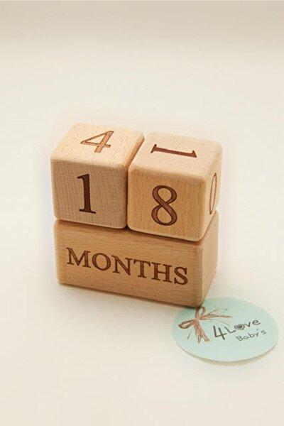 Ahşap Anı Küpleri / Wooden Babymilestone Blocks