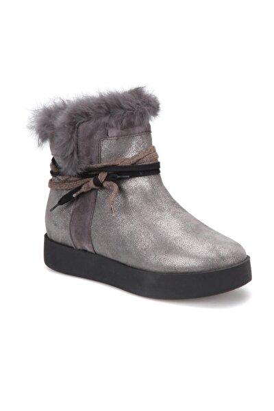 2867/11-17SK Gri Kadın Deri Ayakkabı 100316312