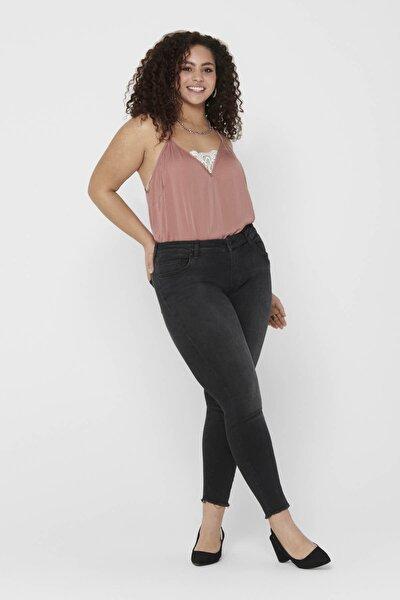 Kadın Siyah Büyük Beden Dar Paça Jeans 15174949 CARWILLY