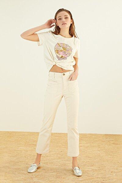 Kadın Ekru T-Shirt 384686