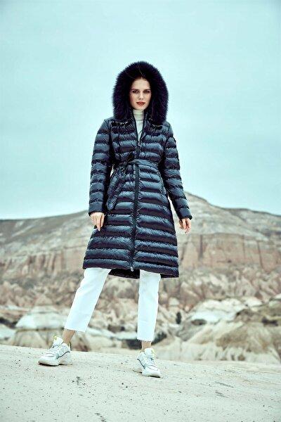 Kadın Lacivert Ibıza Kısa Şişme Mont